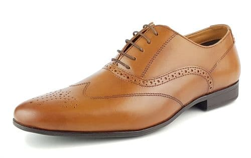 Red Tape - Portman Tan Leather Shoes
